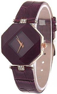 Waterproof Women Wristwatch Elegant Quartz Watch Ultra-Light Lozenge Glass