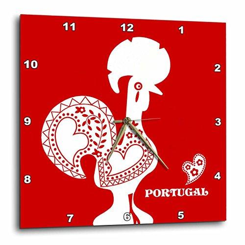 3dRose Sugar Skull Roses - Desk Clock dc/_193529/_1 6 by 6-Inch