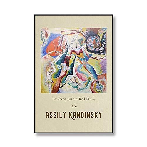 Vasily Kandinsky lienzo abstracto clásico pintura exposición cartel impresión pared arte hogar sin marco lienzo pintura A2 60x90cm