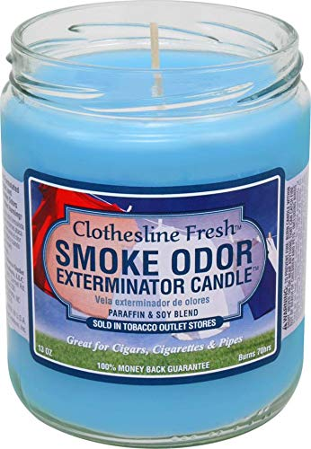 Tobacco Outlet Products Smoke Odor Exterminator 13oz Jar Candle, Clothesline Fresh, 13 oz