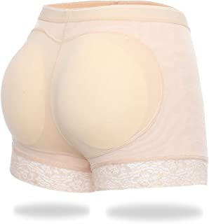 Butt Lifter Padded Panties Hip Enhancer Shapewear for Women Seamless Panty Shaper Lace Boyshorts