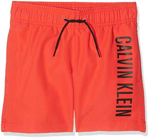 Calvin Klein Jungen B70b700029 Badehose, Rot (Poppy Red 17-1664 600), 134 (Herstellergröße: 8-10)