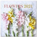 ERIK - Calendario de pared 2021 Flores, 30x30 cm