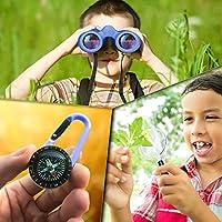 Binocolo Bambini - Regalo ottimale per bambino e bambina - Forte ingrandimento 8X21 - Set Esploratore Completo con Lente d'Ingrandimento e Bussola - Giochi per bambino e bambina di 4 5 6 7 8 anni #5