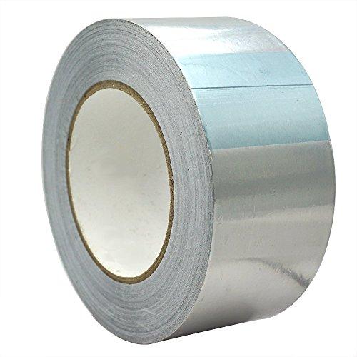 Cinta de aluminio 20-48-72-96 mm x 50 m de aislamiento térmico autoadhesivo...
