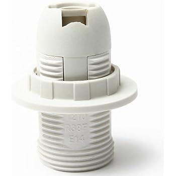 2x E27 Schraubfassung Runde Kunststoff Glühbirne Lampenfassung Halter Adapter Lo