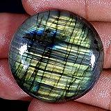 GovindStore 68.50Cts. 33.00X07MM 100% Natural Multi Color Labradorite Round CABOCHON Loose Gemstones