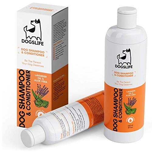 Dog Shampoo Conditioner | All-in-One Shampoo For Dogs | Anti Itch, Tick & Flea Shampoo | Soothing Natural Shampoo For Dogs | Lavender & Chamomile