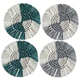 4pcs coaster cotone tazza tazza tappetino tappetino tappetino tappetino tappetini tovagliette placemats costatori di isolamento antiscivolo tappetini da caffè fatti a mano tazza di caffè tappetino