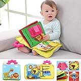N-B 12 Pagine Giocattoli educativi per Bambini Bambini per Bambini Sviluppo precoce Libri di Stoffa Cartoon Animal Learning Unfold Activity Books