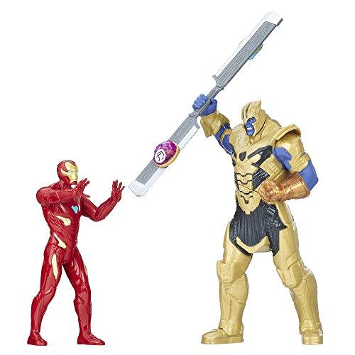 Figura de Los Vengadores Infinity War Thanos Vs Iron Man Battle Set, E0559