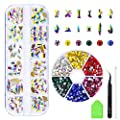 5000 Pcs FlatBack Crystals AB and Clear Rhinestones,Mix 24 Style Multi Shapes Glass 3D Decorations For Nail Art Craft Flat Back Stones Gems Set (5000 pcs rhinestones+48 pcs Crystals)