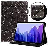 HoYiXi Funda para Samsung Galaxy Tab A7 10.4 2020 Estuche de Tableta Funda de Cuero Delgada con Función de Soporte Funda Cover para Samsung Galaxy Tab A7 2020 T500 / T505 - constelación