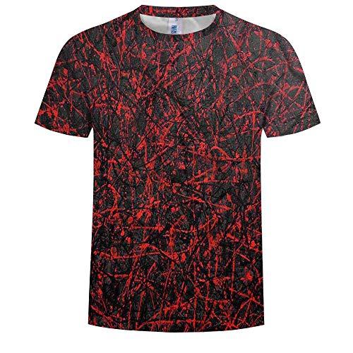 Interessantes T-Shirt, Coole Herren- Und Damenoberteile Mit Rundhalsausschnitt, Bequem Und Atmungsaktiv, 3D-Digitaldruck, Marmormuster, Schnell Trocknend, XXL