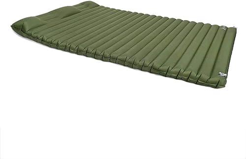 De Plein Air Résiste à L'humidité Gonflable Matelas, Ménage 2 Personnes épaissir Tapis Portable Camping Air Lit (Couleur   Rouge)