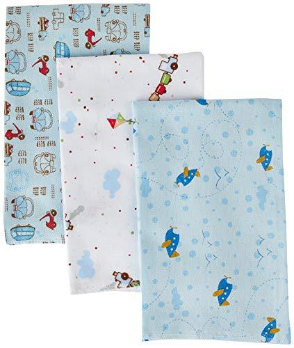 Cueiro Estampado, Papi Textil, Azul, 80cmx50cm