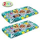 Inflatable Serving Bars with Drain Plug (2pcs), Fashion Pattern Inflatable Cooler Ice Buffet Salad...