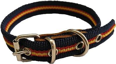 Global Collar de Perro Bandera de España Color Azul | Collar de ...