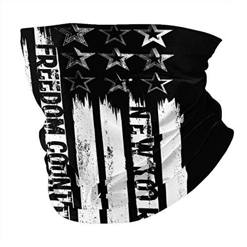 Scaldacollo con asciugamano stilizzato per il viso della libertà di New York City con copertura scaldacollo antivento con filtro
