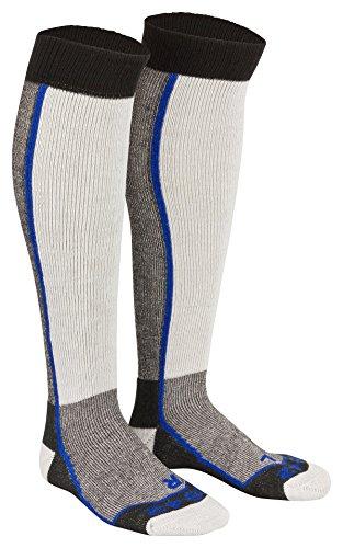Tobeni 2 paar skisokken snowboard sokken thermolite skisokken voor dames en heren kleur blauw maat 35-38
