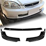 Stay Tuned Performance PU/692/PCF Carbon Fiber Print Front Bumper Body Kit Lip 3PCS Compaitble with 1996-1998 Civic