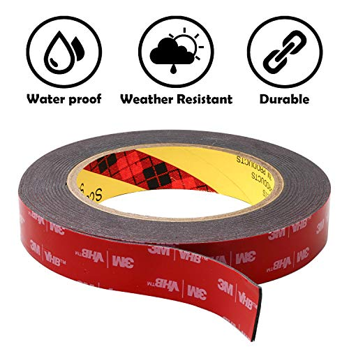 3M Double Sided Tape Heavy Duty: Mounting Tape Converted from 3M VHB 5952, (0.75 in x 15 ft) Super Strong Foam Tape for Outdoor and Indoor