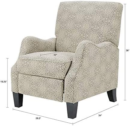Best Madison Park Hoffman Recliner Chair - Solid Wood, Plywood, Fully Upholstered, Bedside Lounger, Moder