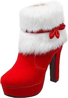 Kerstlaarzen Dames Enkellaarzen Mode Korte laarzen Western cowboylaarzen Wellingtonlaarzen Ronde neus Blokhak Bootie Lage ...