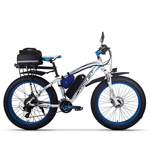 Rich BIT RT022 1000W vélo électrique Smart e-Bike 48V*17Ah Li-Batterie (Blue Plus)