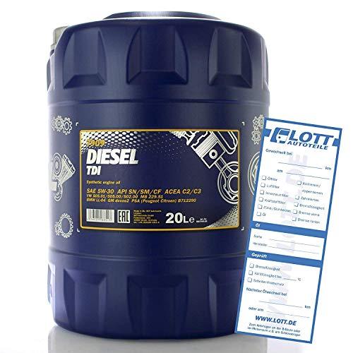 MANNOL Diesel TDI 5W-30 API SN/CF Motorenöl, 20 Liter