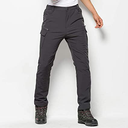 SHYSBV Pantalones Impermeables Hombres Invierno ...