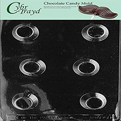 Cybrtrayd Life of the Party Liquor Cups Chocolate Candy Mold in Sealed Protective Poly Bag Imprinted with Copyrighted Cybrtrayd Molding Instructions