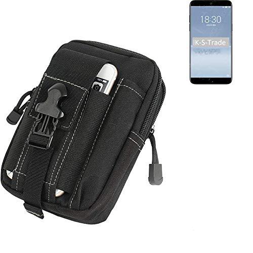 K-S-Trade Gürtel Tasche Für Meizu 15 Plus Gürteltasche Holster Schutzhülle Handy Hülle Smartphone Outdoor Handyhülle Schwarz Zusatzfächer