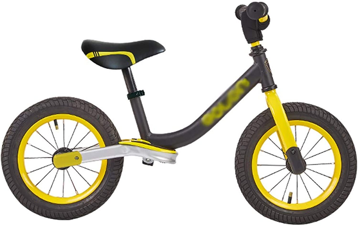 Balance Bikes Yellow, Toddler Kids Balance Training Bike, Air Tires, No Pedal - 2, 3, 4, 5 Year Olds