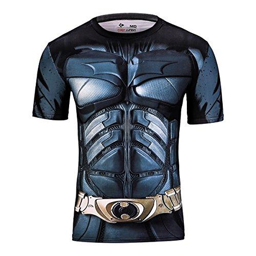 Cody Lundin–Camiseta de manga corta para hombres–Diseño de películas de superhéroes, Bat C