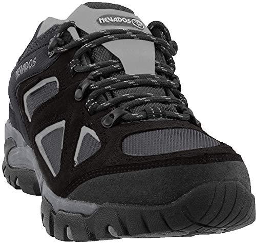 Nevados Men's Spire Low Waterproof Hiking Shoe, Black/Grey, 11.5 M US