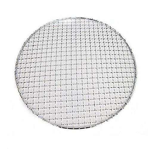 Fittoway - Griglia multiuso a forma circolare con retina a croce - in acciaio inossidabile - - per scaldare o raffreddare i cibi - barbecue, grill, padelle - diametro: 24 cm