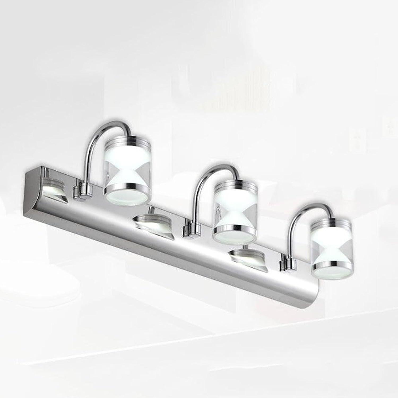 Spiegellampen- Doppelkopf   drei LED-Scheinwerfer Badezimmer-Edelstahl-Spiegel-Schrank-Lampe   Wand-Lampe   Verfassungs-Lampe (2-32 Cm, 3-46 Cm) --Lampen-Spiegel vorne ( farbe   Weies Licht-3-46cm )