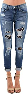 Animal Magnetism! Destructed and Animal Patched Skinny Denim