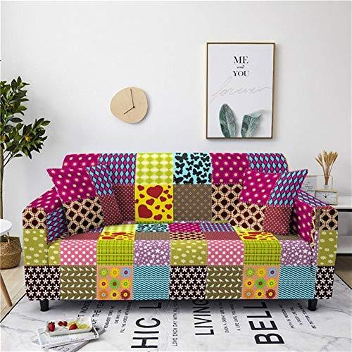 Sofa Slipcover extensible Tissu élastique géométrique Canapé d'angle Covers Set Spandex universel for Living Room Furniture Protector Fauteuil d'angle Canapé