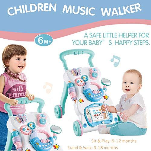 GoolRC ベビーウォーカーmultifuctional幼児ウォーカー座って立つ学習ウォーカーおもちゃ活動ウォーカー用赤ちゃん子供