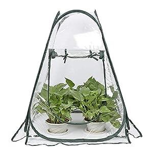 Mini invernadero Pop up Grow House, cubierta de invernadero de PVC para interiores y exteriores, cubierta de plantas de jardinería portátil pequeña, refugio de flores para jardín, 70 x 70 x 80 cm