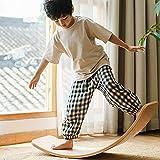 Kurala Wooden Balance Board, Balance Board with Gray Felt Layer Wobble Board, Waldorf Toys, Kid Yoga Board, Curvy Board, Wooden Rocker Board Kid Size