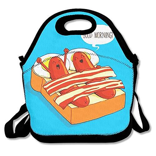 Lunch Tote Goede Morgen Worst Lunch Dozen Lunch Tassen Handtas Voedsel Opslag Past voor School Reizen Werk Outdoor