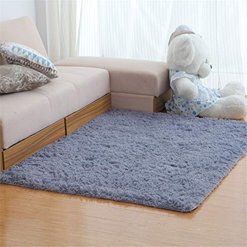 Michance Nordic Simple And Light Bedroom Bedside Carpet Ultra-Thin Comfortable Household Carpet Pure Color Soft Carpet Floor Mats Non-Slip Absorbent Carpet Suitable For Living Room Hotel Bed Balcony
