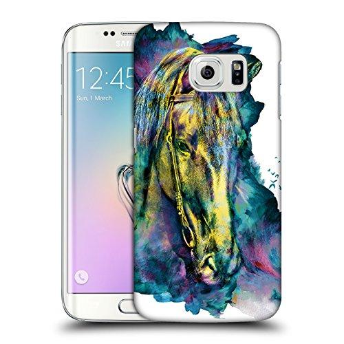 Head Case Designs Licenza Ufficiale Riza Peker Cavallo Animali Cover Dura per Parte Posteriore Compatibile con Samsung Galaxy S6 Edge