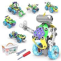 CENOVE STEM 5 IN 1 Konstruktionsspielzeug, 109 Stück Educational Konstruktionsbaukasten Spielzeug mit Elektromotor Jungen 5 6 7 8 9 10+ Jahren