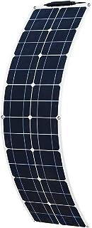 YUANFENGPOWER 50 W 16 V panel solar flexible módulo de silicio monocristalino para barco, automóvil, camper, yate, cargador de batería de 12 V