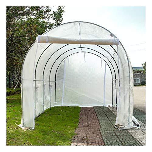 ZWJ Invernadero para exteriores J-Greenhouses, Outsunny para jardín con estantes Teeple Green House Grow House Funda extraíble resistente de polietileno resistente al agua (color blanco)