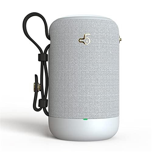 Altavoces Bluetooth 5.0, IPX5 Waterproof Altavoz Portatil, Estereo, al Aire Libre, hogar, Fiesta, Viajes con HD Audio y Manos Libres, Radio FM Antena Construido, USB, Llamadas Manos Libres y TF,White
